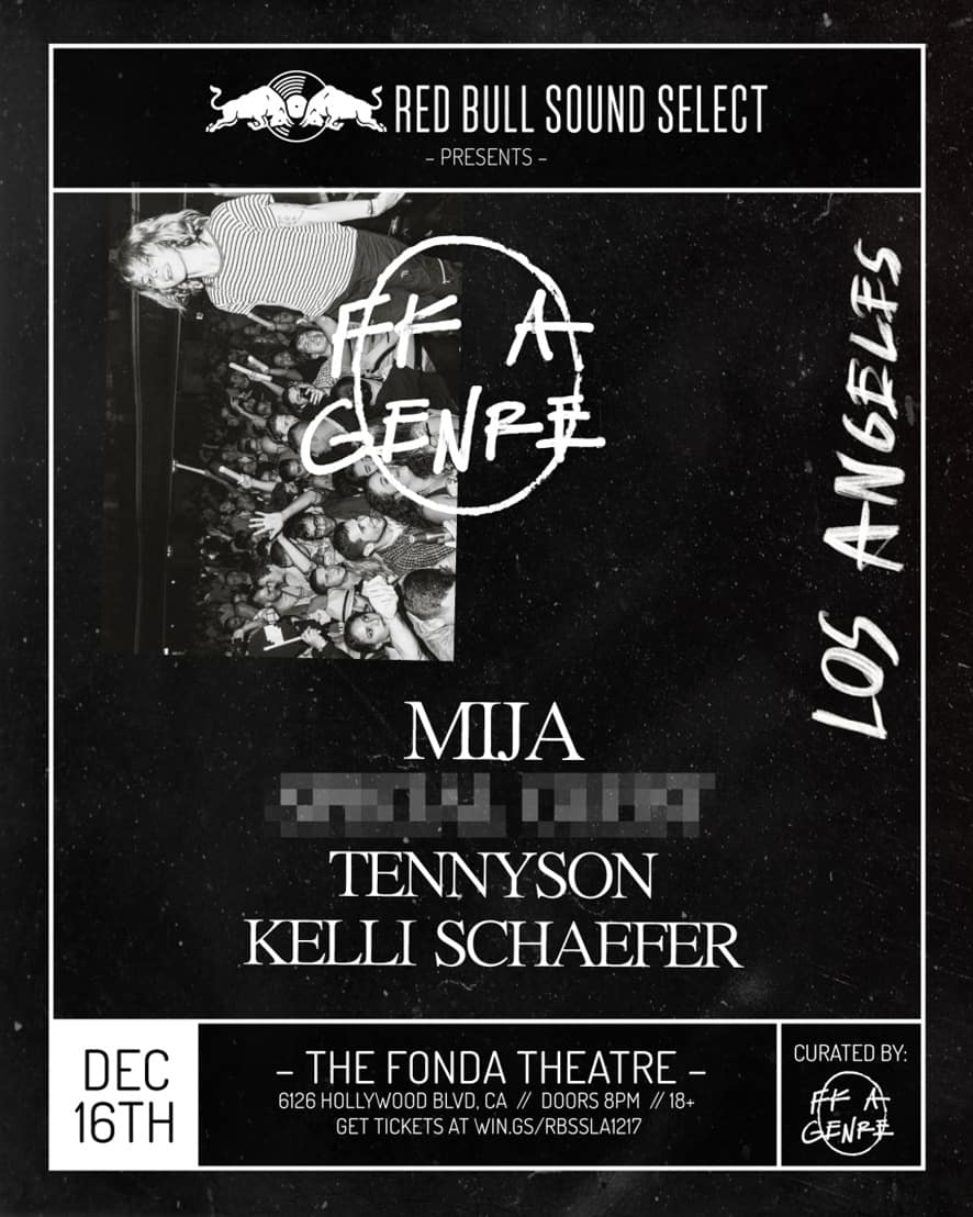 Photo of Red Bull Sound Select & Mija Partner with My Friend's Place to Bring 'FK A Genre' to LA