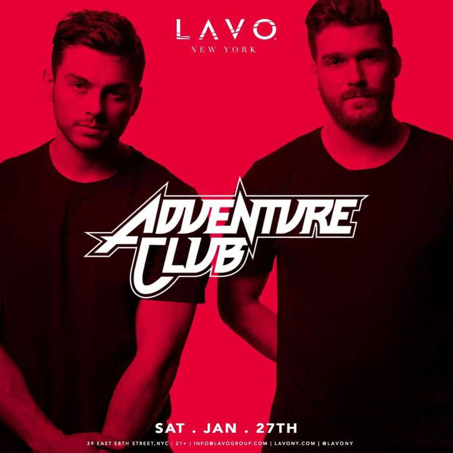 Photo of GRAMMY-NOMINEES ADVENTURE CLUB TO APPEAR AT LAVO NEW YORK SATURDAY DURING GRAMMY WEEK