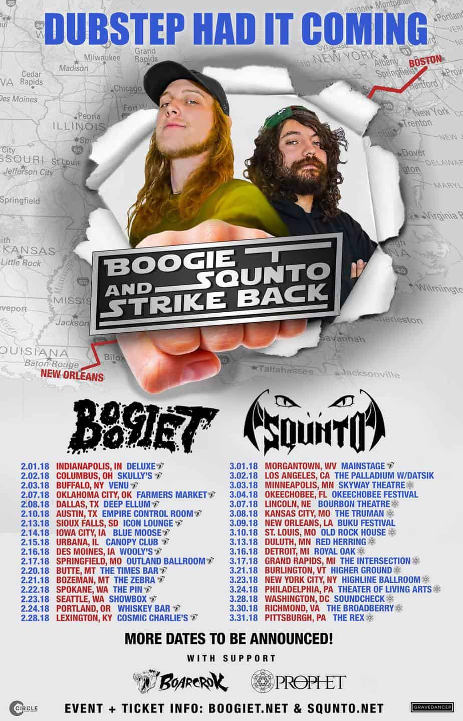 Boogie T and Squnto Dubstep Had It Coming Tour
