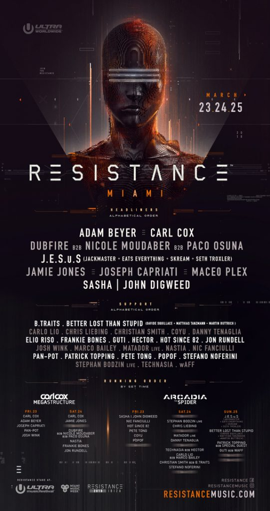 Ultra Music Festival RESISTANCE Lineup Miami 2018