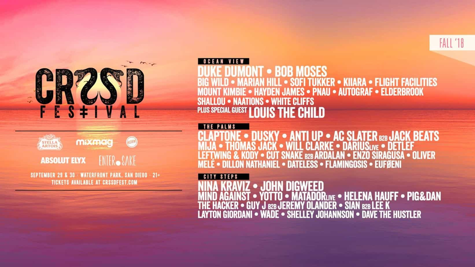 Photo of CRSSD Festival Fall 2018 Edition Announces Phase Two Lineup