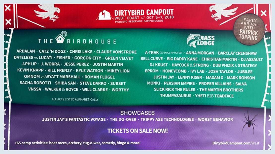 Photo of Dirtybird Campout West 2018 Drops Phase Two Lineup