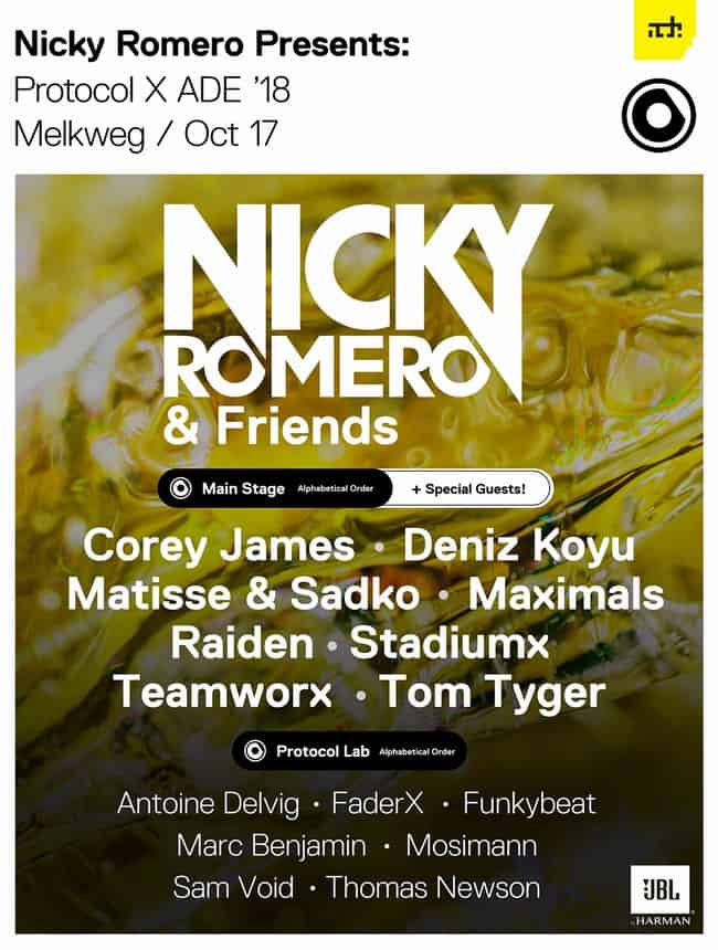 Photo of Nicky Romero Kicks Off ADE 2018 with Protocol Label Night