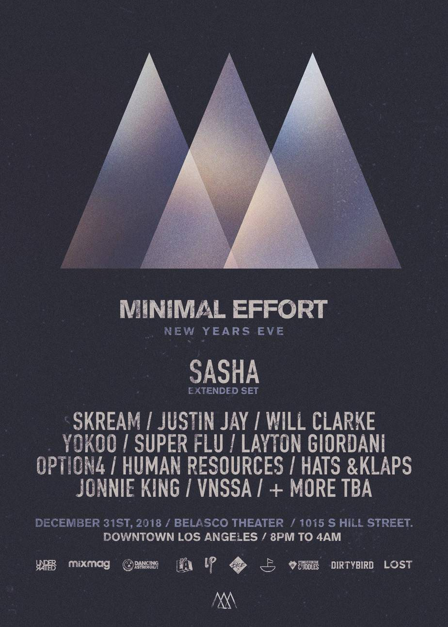 Photo of Minimal Effort New Year's Eve 2018/2019 Lineup Announced