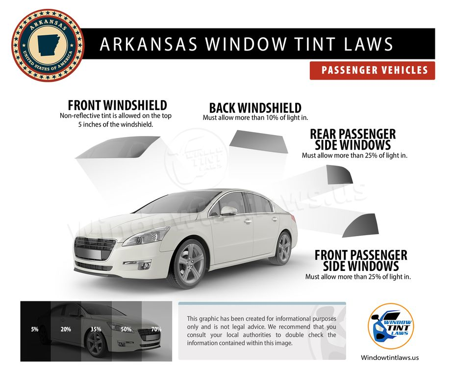 arkansas tint laws passenger
