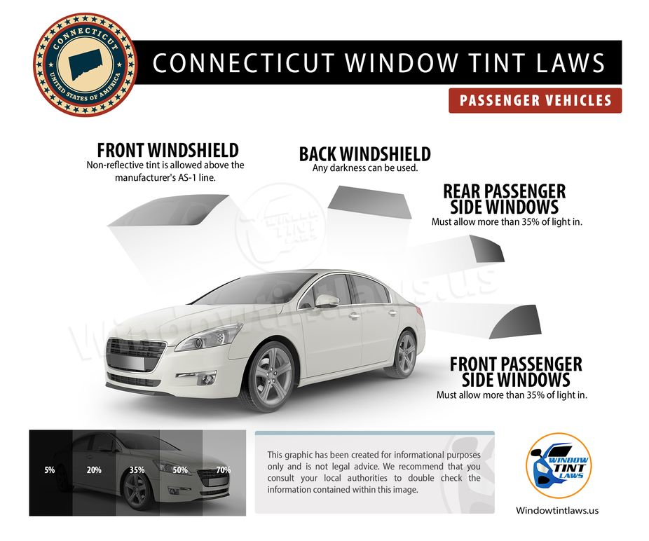 connecticut tint laws passenger