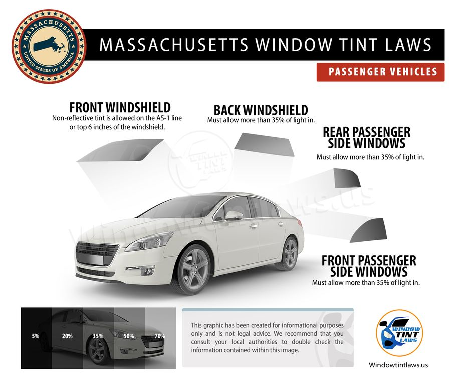 massachusetts tint laws passenger