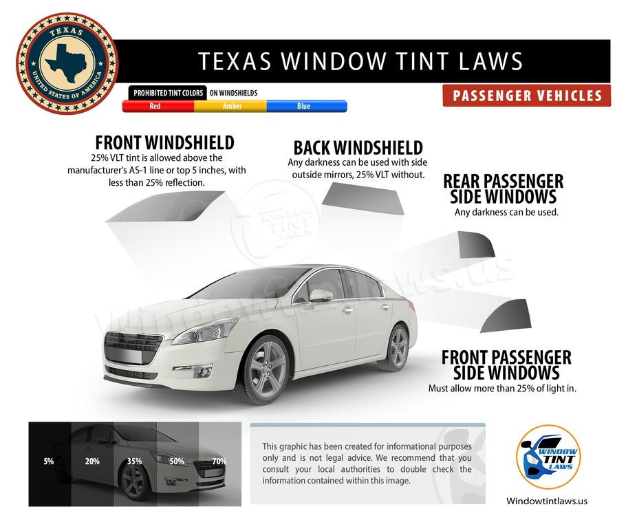 texas tint laws passenger
