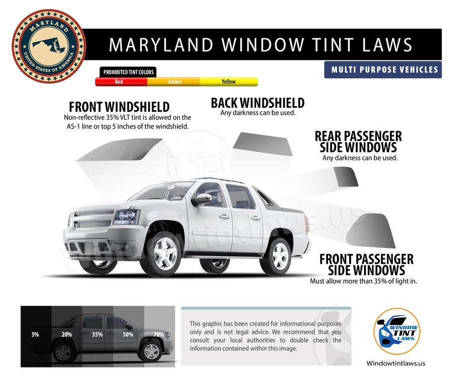 tint laws in maryland