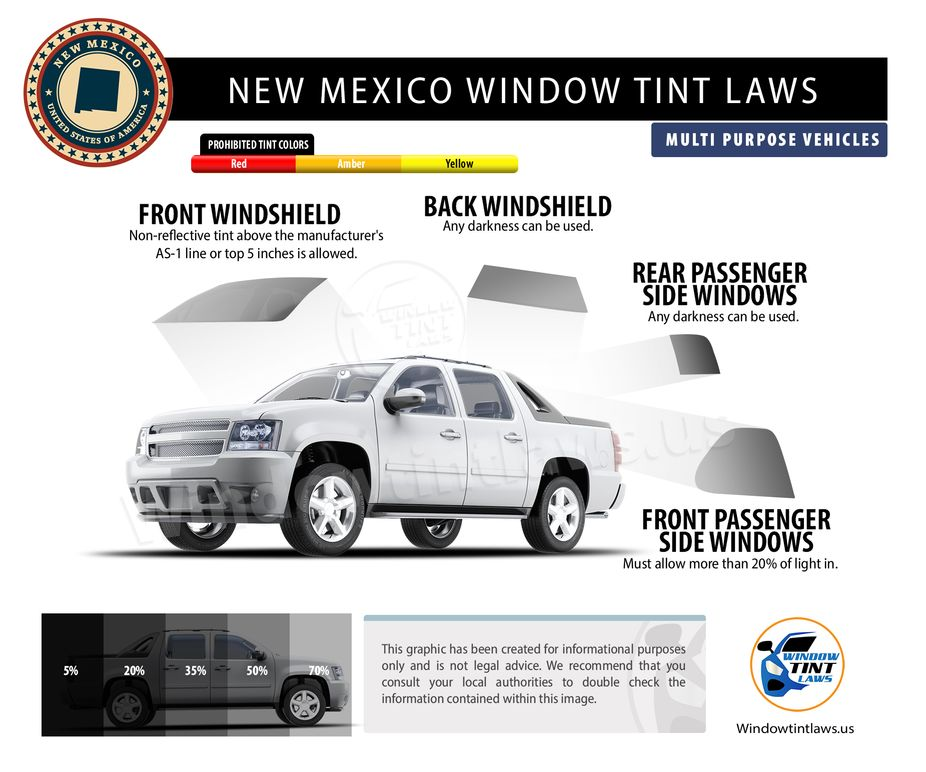 tint laws in new mexico