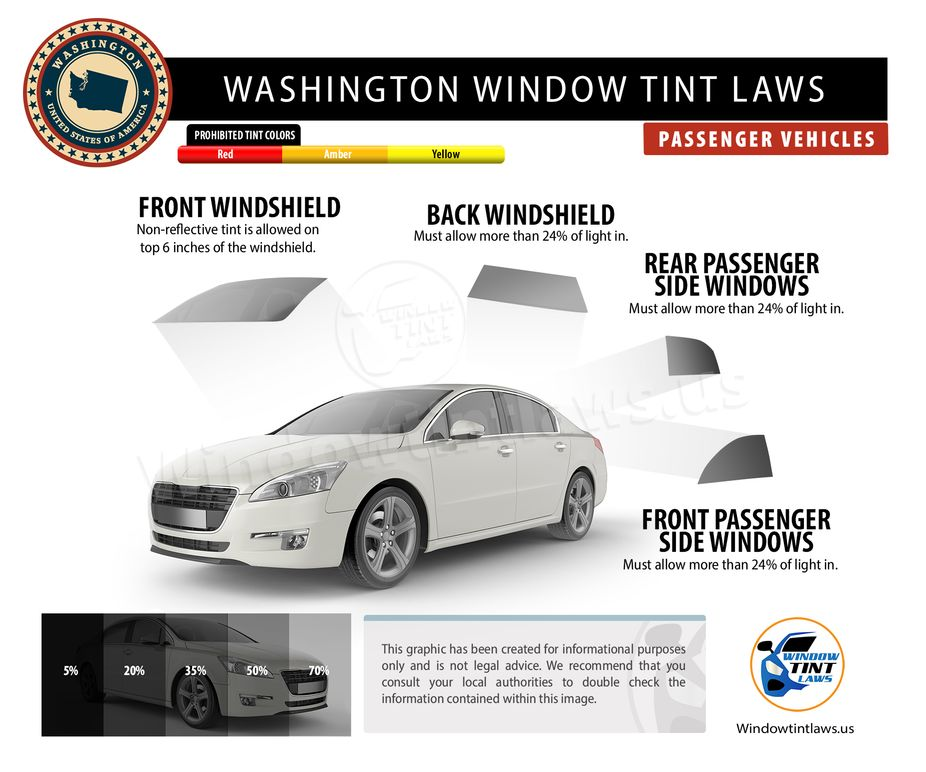 washington tint laws passenger