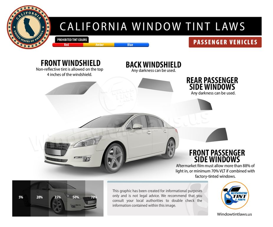 California Tint Laws Passenger
