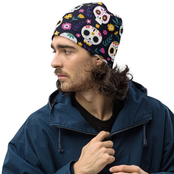 all over print beanie white left front 613a82b663b33