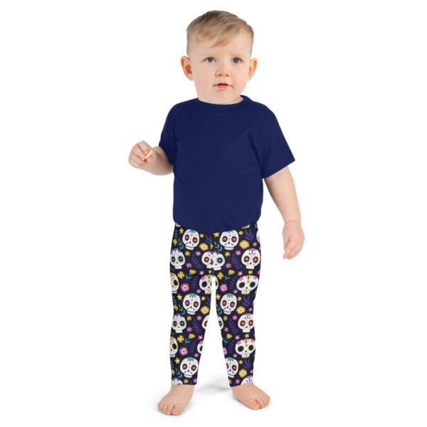 all over print kids leggings white front 613a925949a0a