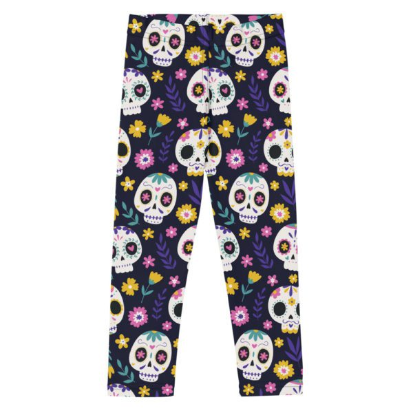 all over print kids leggings white front 613a925949a94