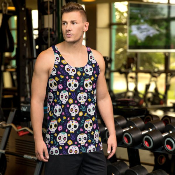 all over print mens tank top white front 613a90aacec43