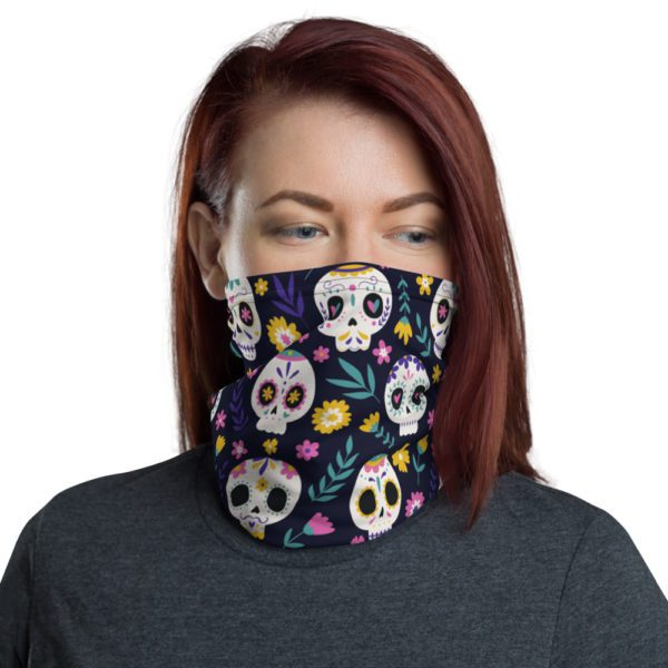 all over print neck gaiter white front 613a8177d2875