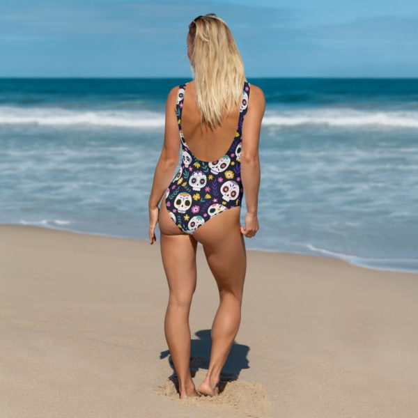 all over print one piece swimsuit white back 613a845600c75