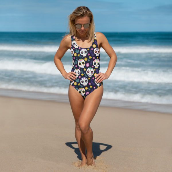 all over print one piece swimsuit white front 613a845600b67