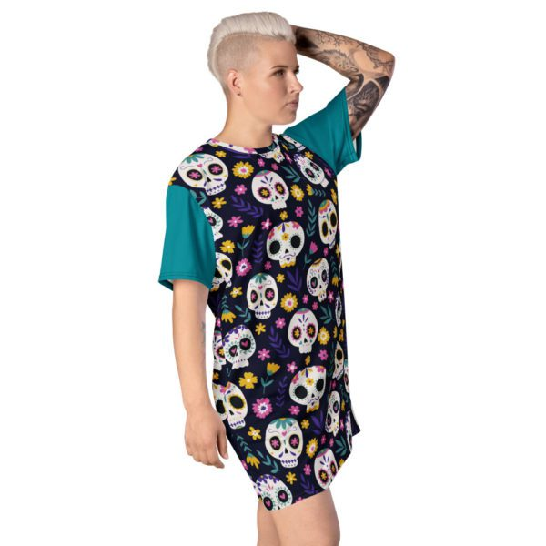 all over print t shirt dress white right front 613a8e72ea444