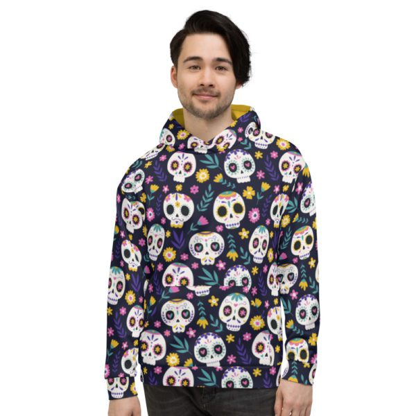 all over print unisex hoodie white front 613a7b3c674b6