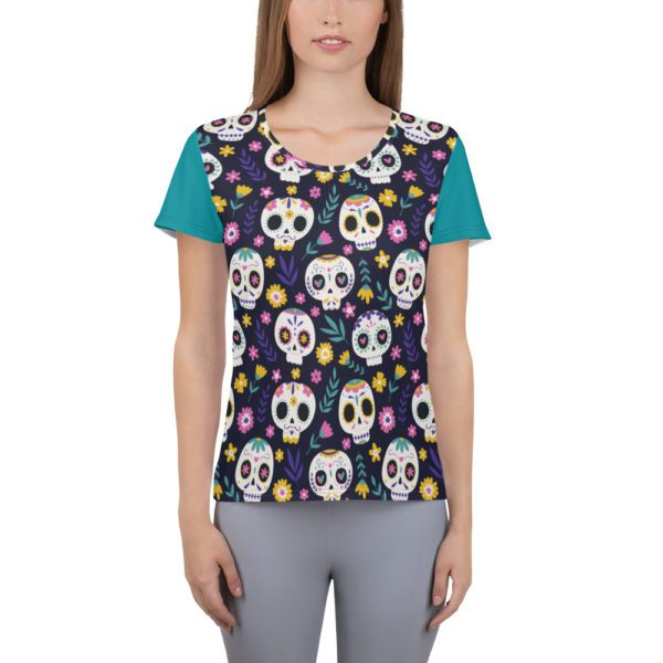 all over print womens athletic t shirt white front 613a95871ef71