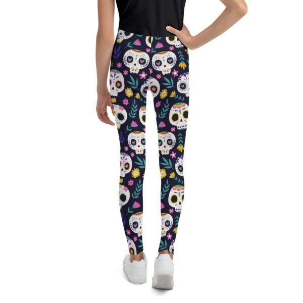 all over print youth leggings white back 613a92a6b71ff