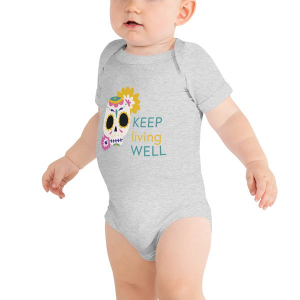 baby short sleeve one piece athletic heather front 613a8b06ce71f