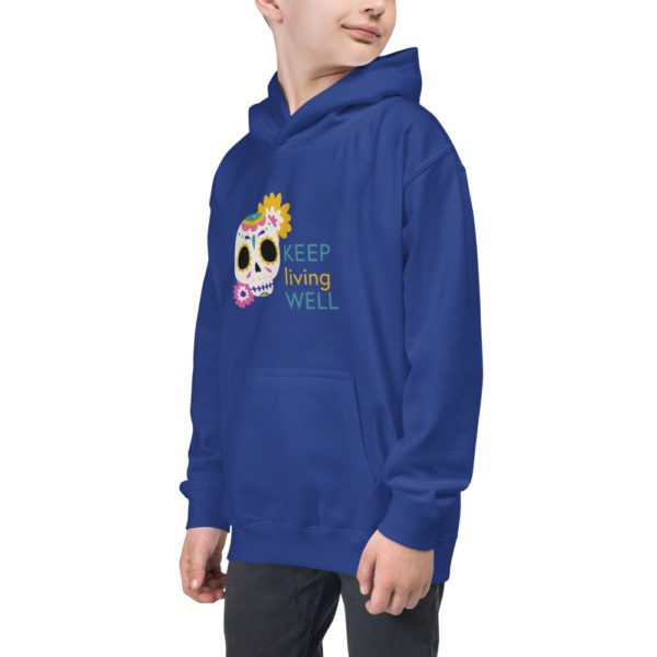 kids hoodie royal blue left front 613a8a2eb4f4f