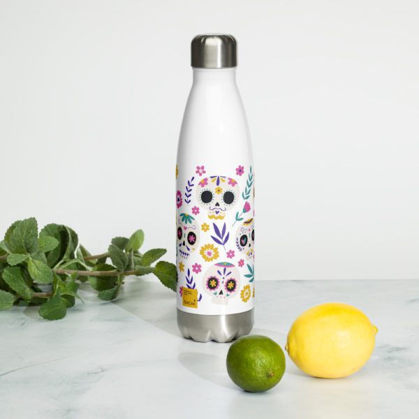 stainless steel water bottle white 17oz front 2 613945657a2f5