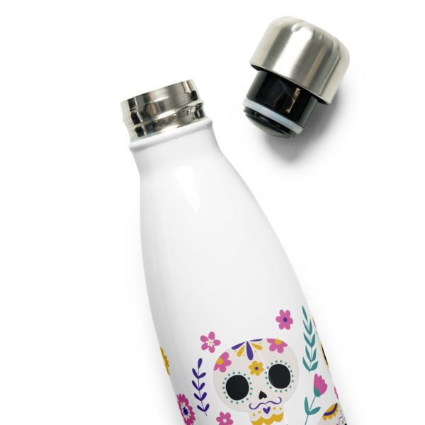 stainless steel water bottle white 17oz product details 6139456579cc2