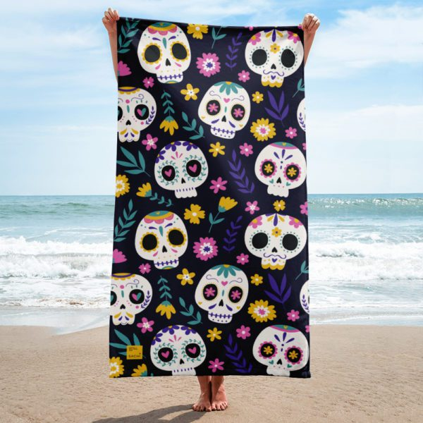 sublimated towel white 30x60 beach 6139390107649