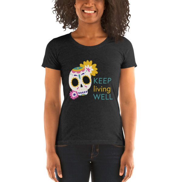 womens tri blend tee charcoal black triblend front 613a9648a7ed9