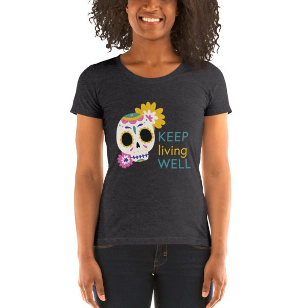 womens tri blend tee solid dark grey triblend front 613a9648a8273
