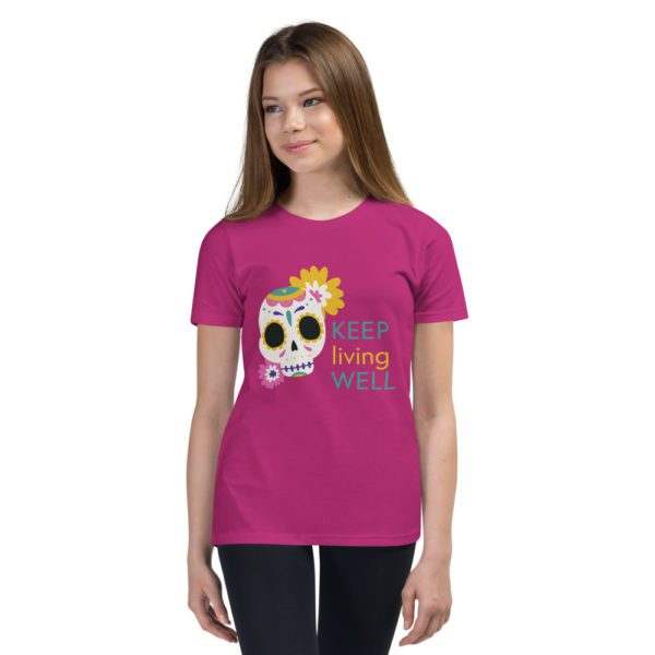 youth staple tee berry front 613a9489a9735